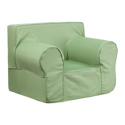 Flash Furniture - Flash Furniture Children's Chairs Kids Large Chairs X-GG-NRG-DILOS-DIK-HC-EGL-GD - This comfy foam chair is a fun piece of furniture for children to enjoy for reading and relaxing. The lightweight design with carrying handle will allow this chair to be toted in several locations. The slipcover can be removed for cleaning or spot cleaned upon accidents. [DG-LGE-CH-KID-SOLID-GRN-GG]