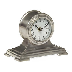 IMAX CORPORATION - Small Pewter Finish Desk Clock - Small round pewter desk clock. Find home furnishings, decor, and accessories from Posh Urban Furnishings. Beautiful, stylish furniture and decor that will brighten your home instantly. Shop modern, traditional, vintage, and world designs.