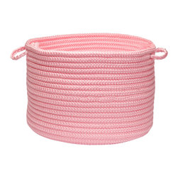 """Colonial Mills - Simply Home Storage Basket - Light Pink, 14"""" x 10"""" - Get organized and live beautifully with this Simply Home braided storage basket. Durable, practical and available in 37 gorgeous colors for indoor and outdoor spaces."""