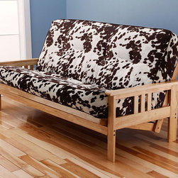 Monterey Complete Full Size Futon Set, Premium Cover - Easy to operate, the frame offers three comfort positions; sofa, bed, and lounger. Set includes futon frame and premium tufted covered innerspring futon mattress.