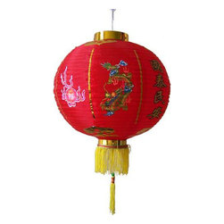 Oriental-Décor - Traditional Dragon Chinese Lantern - Paper lanterns are colorful and practical party decor. Unlike balloons they never deflate and you can hang them early in the day to cut down on prep time. Light them from the inside for an evening event and create an instant party mood.