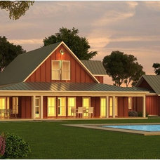 Farmhouse Exterior Elevation by Houseplans Studio
