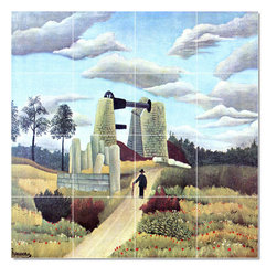 Picture-Tiles, LLC - The Career Tile Mural By Jean Jacques Rousseau - * MURAL SIZE: 24x24 inch tile mural using (16) 6x6 ceramic tiles-satin finish.