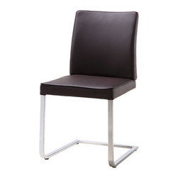 "Whiteline Imports - Ivy Dining Chair (Set of 2) - Clean lines grace this leatherette dining chair. Features: -Set includes 2 chairs. -Upholstery: Faux leather. -Frame material: Chrome. Dimensions: -35"" H x 22"" W x 19"" D, 57 lbs."