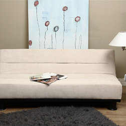 None - Cream Velvet - Look Sofa Bed - Add style to your living room with this cream velvet sofa bed. The velvet-like fabric brings sophistication to any living area and features four reclining positions for your comfort, making it the perfect solution to unexpected, overnight guests.