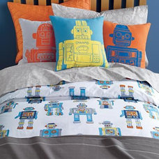 eclectic kids bedding by The Land of Nod