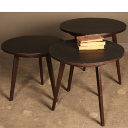 BoBo Intriguing Objects - BoBo Intriguing Objects Delilah Side Table - Iron frame with rust finish. Top made of recycled tire tread. Patinas and finishes will vary.Available in Small, Medium or Large