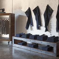 Reclaimed wood retail displays -