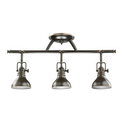 KICHLER - KICHLER Transitional Ceiling / Wall Light X-ZO0507 - An industrial look with contemporary styling, this Kichler Lighting convertible ceiling light can easily double as a well sconce. The Olde Bronze hue compliments the style, giving it an authentic look. U.L. listed for damp locations.