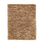 Anji Mocha Recycled Paper Shag Rug  8' x 10' - Go ahead, take off your shoes Our Mocha Recycled Paper Shag Rugs are that soft and inviting Ethereal cloud-like puffs of unbelievably soft fabric feel amazing and look even better. It's a perfect balance of comfort and style that works in any décor. These rugs hide a surprising and sustainable secret, as well. They're crafted from a combination of 50% recycled paper mixed with carefully-selected, cleanly-produced viscose and polypropylene.Available in four sizes, backed with cotton and natural latex.Care: Vacuum without beater brush, or use suction attachment only. Professional cleaning is recommended for stained or soiled rugs. Dimensions: 8'W x 10'L