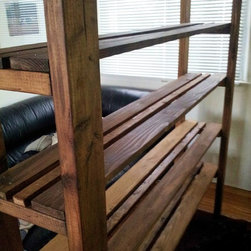 Bookcase Barn Wood / Crate Wood Style - Large bookcase features a rustic design that is rugged yet very functional.