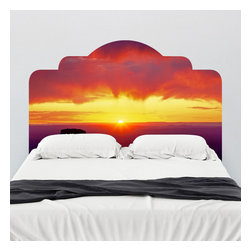 J. Paul Moore - Paul Moore's Sunrise Over Grand Canyon Headboard Wall Decal - Experience sunrise over the Grand Canyon any time you'd like with this adhesive headboard wall decal featuring Paul Moore photography.