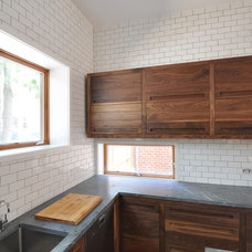 Contemporary Kitchen Cabinetry by FRICANO CONSTRUCTION CO