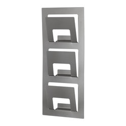 SPONTAN Magazine Rack, Silver Color