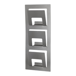 Per Ivar Ledang - Spontan Magazine Rack, Silver Color - I love this magazine rack for the wall. It saves space and gives me an easy place to put mail waiting to be sorted or the current versions or magazines.