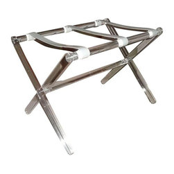 SOLD OUT!  Vintage Lucite Luggage Rack - $650 Est. Retail - $225 on Chairish.com -