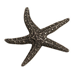 Anne at Home Hardware - Starfish  Knob, Antique Bronze - Made in the USA - Anne at Home customized cabinet hardware enables even the most discriminating homeowner to achieve the look of their dreams.  Because Anne at Home cabinet hardware is designed to meet your preferences, it may take up to 3-4 weeks to arrive at your door. But don't let that stop you - having customized Anne at Home cabinet knobs and pulls are well worth the wait!   - Available in many finishes.
