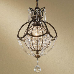 Paris Parlor Crystal Globe Mini Chandelier -