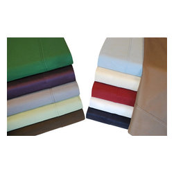Bed Linens - Egyptian Cotton 400 Thread Count Solid Split King Sheet Sets Taupe - 400 Thread Count Solid Split King Sheet Sets