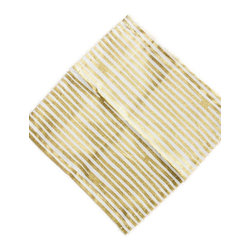 Gold Stripe Cocktail Napkins - Gold stripes give these napkins a more formal look. They'd be great for a New Year's Eve party.