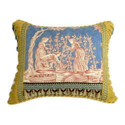 "Metrohouse Designs - Scalamandre, ""The Wine growers"" accent Pillow - Scalamandre, ""The Wine growers"" accent Pillow"