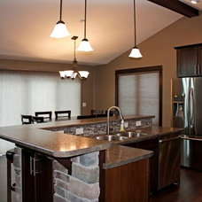Contemporary Kitchen by C&E Wurzer Builders