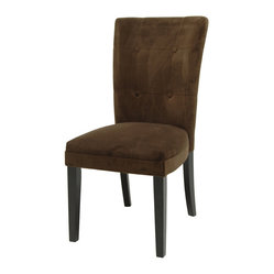 Steve Silver Matinee Parson Side Chair in Chocolate (Set of 2)