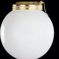 Ellington by Craftmade - Universal Bowl Kit Bright Brass Fluorescent 8 Inch Globe Kit - - Warranty Info: 1 Year (No, Sensormatic) - See Packaging for Details  - Glass Finish: Opal White  - Type of Fixture: Universal Bowl Kit Ellington by Craftmade - ELK2BB