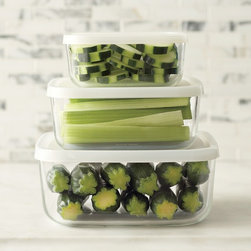 Bormioli Rocco Glass Storage Containers, Square, Set of 3 - I think every household needs some clear storage solutions for the fridge so that you can see what's happening inside. This set is also stackable, saving you space.