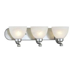 Minka Lavery - Minka Lavery 5423-84-PL Paradox 13 Watt 3 Light Bath in Brushed Nickel with Etch - Designed to fit comfortably into any home and budget. Strong lines are softened with Brushed Nickel finish and Etched Marble Glass. Quality and style make this a very attractive collection at an incredible value.120V LVS Electronic Can be mounted either up or down The mounting on the backplate is located in the centerBulb Included: No Bulb Type: Fluorescent Collection: Paradox Energy Star Compliant: Yes Extension: 8-1 2 Finish: Nickel Glass Shade: Etched Marble Glass Height: 7-1 2 Light Direction: Up Lighting Number of Lights: 3 Style: Contemporary Transitional Suggested Room Fit: Bathroom UL Listed: Damp Location Wattage: 13 Weight: 8.8 Width: 24