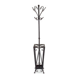 IMAX CORPORATION - Coat Rack/Umbrella Stand - This iron coat rack/umbrella stand is functional and tasteful. Find home furnishings, decor, and accessories from Posh Urban Furnishings. Beautiful, stylish furniture and decor that will brighten your home instantly. Shop modern, traditional, vintage, and world designs.