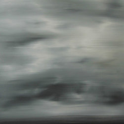 """ART DESTINY - MOONLIGHT (I) Original Oil Painting by Michele Morata MODERN BLACK & WHITE ART - 48"""" x 24"""" ORIGINAL LARGE PEACEFUL ZEN ONE-OF-A-KIND ABSTRACT OIL PAINTING - INTERIOR DESIGN UNIQUE PANEL. I AM AN ECO-FRIENDLY FINE ARTIST AND USE THE HIGHEST QUALITY WATER-BASED OILS TO  PRODUCE PAINTINGS THAT ARE HEALTHY FOR OUR ENVIRONMENT, HOMES, AND OFFICES, WITH NO ADDED CHEMICALS. PROFESSIONALLY PACKED WITH CERTIFICATE OF AUTHENTICITY, READY TO  HANG."""