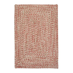 """Colonial Mills, Inc. - Indoor/Outdoor Corsica, Porcelain Rose Rug, Sample Swatch - Looking for a rug that never goes out of style? This is it. The practical colors in this textured tweed-design rug bring a casual elegance to any room in the home.  Material: 100% Polypropylene  Construction: Braided  Features: Stain/Fade Resistant, Reversible, Made in USA  14""""x17"""""""