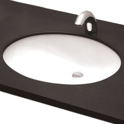 """Toto - Toto LT569 Cotton White Undercounter Lavatory ADA - The Toto LT569#01 is an oval undermount lavatory, with a transitional design, from Toto USA. The Toto LT569#01 Measures 17"""" x 14"""", and comes in cotton white finish"""