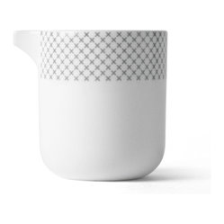 Gray Stitch Milk Jug