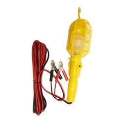 Motor Trend - Motor Trend 20 ft. Yellow Portable Work Light MT670BLPX - Shop for Lighting & Fans at The Home Depot. The Yellow 20 ft. Portable Work Light is great for using in your home, office, workshop, garage, or anywhere temporary lighting is required. The socket is encased by a plastic cage that protects you from the bulb's heat, and the hook on top makes it easy to hang and direct light anywhere you are working. Safe and reliable for use with cars, SUV's, pick-up trucks and light recreational vehicles. This is to be used indoors. This light meets or exceeds Underwriter Laboratory's strict manufacturing and safety standards.