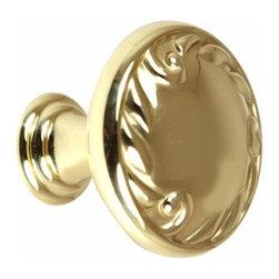Alno Inc. - Alno Ornate 1 1/4 Inch Knob In Polished Brass - Alno Ornate 1 1/4 Inch Knob In Polished Brass