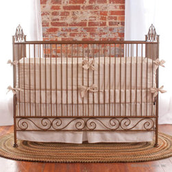 Casablanca Crib in Venetian Gold by Bratt Decor - Casablanca Crib in Venetian Gold by Bratt Decor