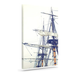 """Kess InHouse - Bree Madden """"Pirate Ship"""" Wrapped Art Canvas (20"""" x 16"""") - Bring your outdoor patio to life with this artistic outdoor canvas wrap featuring gorgeous artwork by KESS InHouse. These canvases are not only easy to hang and remove but also are the perfect addition to your patio collection. These canvases are stretched around a wooden frame and are built to withstand the elements and still look artistically fabulous. Decorating your patio and walls with these prints will add the splash of art and color that is needed to bring your patio collection together! With so many size options and artwork to choose from, there is no way to go wrong with these KESS Canvas Wraps!"""