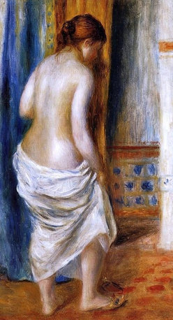 "Pierre Auguste Renoir The Bathrobe - 18"" x 24"" Premium Archival Print - 18"" x 24"" Pierre Auguste Renoir The Bathrobe premium archival print reproduced to meet museum quality standards. Our museum quality archival prints are produced using high-precision print technology for a more accurate reproduction printed on high quality, heavyweight matte presentation paper with fade-resistant, archival inks. Our progressive business model allows us to offer works of art to you at the best wholesale pricing, significantly less than art gallery prices, affordable to all. This line of artwork is produced with extra white border space (if you choose to have it framed, for your framer to work with to frame properly or utilize a larger mat and/or frame).  We present a comprehensive collection of exceptional art reproductions byPierre Auguste Renoir."
