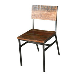 Mexicali Iron And Wood Dining Chair - Mexicali Iron and Wood Dining Chair! This is a Very unique chair that will compliment any Spanish colonial, southwest, or rustic decor. Very Heavy duty.