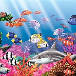 Undersea World Puzzle - 60 Piece Jigsaw PuzzleThis children's puzzle reveals a hidden world, a world you do not get to see even from a day at the beach! Designed for play as well as with the developmental needs of young children in mind, Springbok children's puzzles help develop motor skills, reasoning and logic, as well as the ability to focus attention. Made with the same quality Springbok has been known for, generation after generation, our children's puzzles contain a little bit of magic and lots of fun!