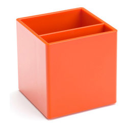 Pen Cup, Orange - Keep yourself and your pens from going over the edge with this clever cup.