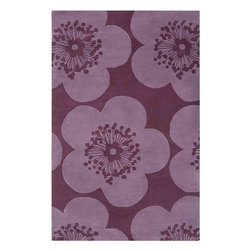 Surya - Aimee Wilder Purple Area Rug - Add some fresh colors and beauty to your home decor with this attractive Aimee Wilder Purple Area Rug. This unique designed area rug has floral pattern in amazing purple and raspberry colors. Made of 100% pure wool using hand-tufted method. Aimee Wilder Rug will make any interior unique and trendy. Bring personality and novelty to your decor.