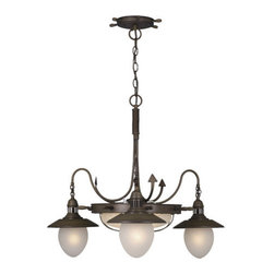 Vaxcel Lighting - Vaxcel Lighting CH25506 Orleans 3 Light One Tier Chandelier - Features:
