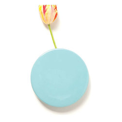 Flowerspot Vase in Sky Blue - Spot a splash of color on your wall. This daring vase is wall-mounted for some floral fun all over the place. You can arrange up to six stems for a playful mix of color even in the smallest of spaces.