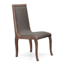Zuo Modern - Zuo Modern Kearny Side Chair in Charcoal Gray [Set of 2] - Side Chair in Charcoal Gray belongs to Kearny Collection by Zuo Modern Side Chair (2)