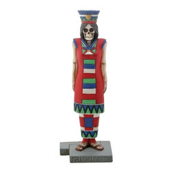 Summit - 6.75 Inch Cold Cast Resin Day of the Dead Skeleton Aztec Queen Figure - This gorgeous 6.75 Inch Cold Cast Resin Day of the Dead Skeleton Aztec Queen Figure has the finest details and highest quality you will find anywhere! 6.75 Inch Cold Cast Resin Day of the Dead Skeleton Aztec Queen Figure is truly remarkable.