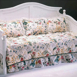 Bernards - Somerville White Daybed Frame - Update your young daughters bedroom with this white daybed by Somerville. This bed provides a contemporary and youthful style, ideal for the pre-teen or teen. Its artistic shape and design make it a good choice for a guest bedroom as well.