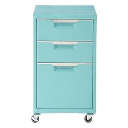 TPS aqua 3-drawer filing cabinet -